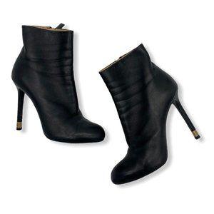 Chanel 15b Lambskin Leather Short Ankle Metal Heel